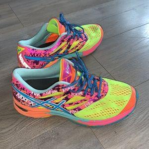 ASICS Gel-Noosa Rainbow Neon Trainers Size 9